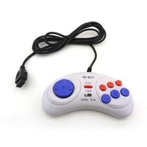 Image 3 - 16 bit handle controller 6 Button Gamepad Game controller for SEGA Genesis for SEGA MD Game Accessories
