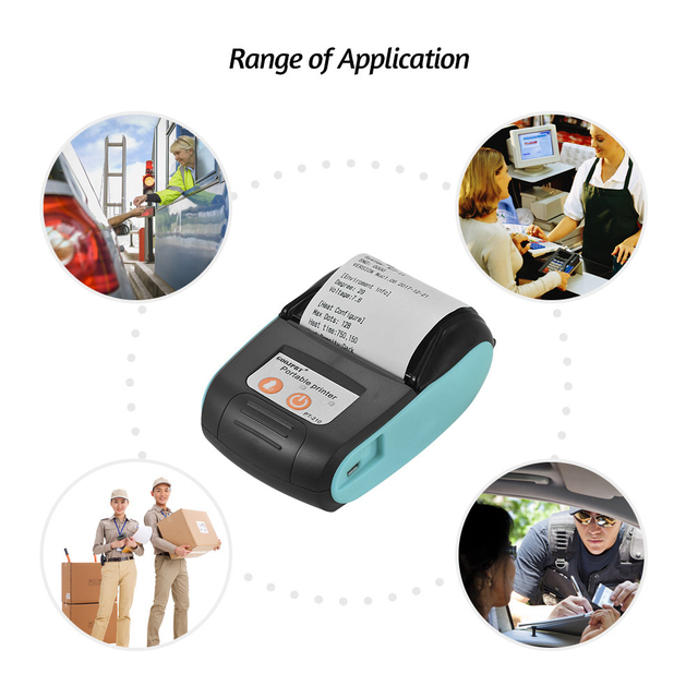 Wireless Mini 58mm Bluetooth Printer Portable Thermal Receipt Printer Mobile Phone Android iOS PC Pocket Bill Impresoras 6