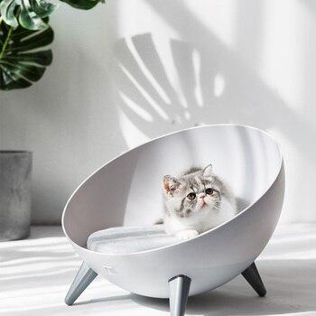 Outdoor Cat Sleeping Bed Winter Warm Semi-closed Universal Cat House Kitten Kennel Deep Sleep Soft Warm House Pet Product AA60MW