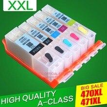 Для canon Pixma TS5040 TS 5040 TS6040 MG5740 MG6840 принтер многоразового заправления картриджа Перманентный чип PGI470