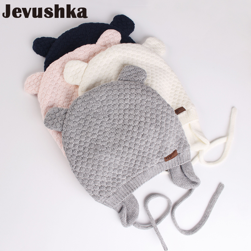 100% хлопковая подкладка для новорожденных, детская зимняя шапочка-ушанка с медведем
