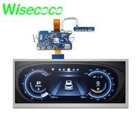 Wisecoco 12.3 polegada esticada barra lcd painel HSD123KPW1-A30 1920*720 alto brilho 1000 lêndeas hdmi placa de motorista para exibição do carro