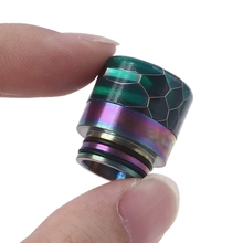 Metal Resin Rainbow Drip Tip Electronic Cigarette Holder Mouthpiece For 810