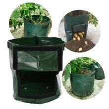 1 шт. Выращивание растений мешок плантатор для выращивания картофеля «сделай сам» Растениеводство мешок-контейнер для посадки растений утолщенный садовый горшок для дома
