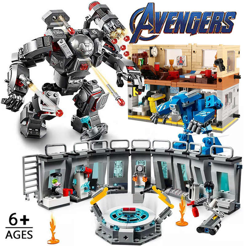 2IN1 fer Mecha Heros Endgame film blocs de construction Lepininglys Hall of Armour Figures briques enfant jouets