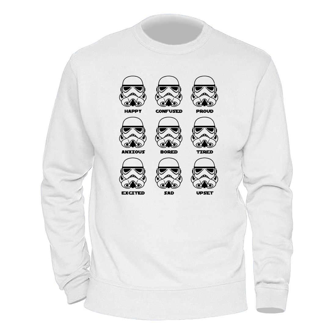 남성 의류 스타 워즈 만화 Stormtrooper 후드 2020 따뜻한 가을 겨울 스웨터를 유지 o-넥 레트로 하라주쿠 Hoody