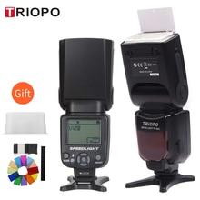 Triopo TR 950 ضوء فلاش Speedlight Speedlite العالمي ل فوجي فيلم أوليمبوس نيكون كانون 650D 550D 450D 1100D 60D 7D 5D كاميرا