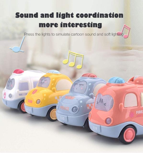 Car Toys For Baby Boy 1 Year Old Montessori Music Cars For Toddler 13 24 Month Kids Early Learning Educational Toy Birthday Gift