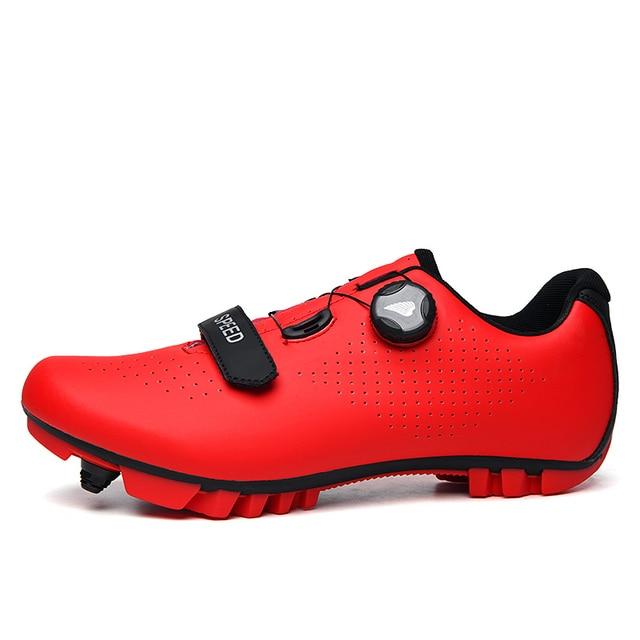 Fibra de carbono dos homens sapatos ciclismo respirável triathlon mountain bike tênis homem esporte de corrida estrada sapatos rotação fivela 3