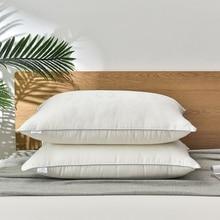 Mulberry Silk Pillows 48*74Cm Natural Silk Filling Jacquard Anti Mite Soft Fluffy Hotel Neck Sleeping Bedding Pillows