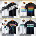 Classic 2021 FW Dsquared2 Box Logo T-Shirt Streetwear WOMEN/MEN Fashion Cotton Casual Short sleeve Round neck T shirt