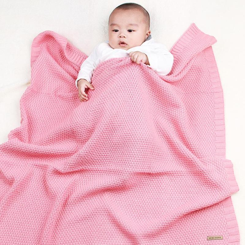 Square Baby Receiving Blanket Cotton Muslin Knitting Baby Blanket Warm Quilt Baby Items For Newborns