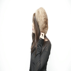 Real Mink Winter Fur Hat for Women Russian Real Fur Knitted Cap headgea Winter Warm Beanie Hats 2019 fashion