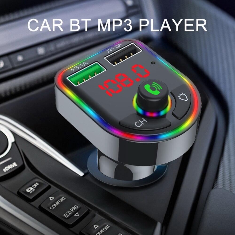 Bluetooth 5,0, свободные руки, FM передатчик, автомобильный комплект MP3 модулятор музыкальный плеер Беспроводной громкой связи Bluetooth гарнитура для ...