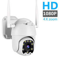 1080P Cloud Outdoor PTZ IP Camera WIFI Speed Dome Auto Tracking Camera 4X Digital Zoom 2MP Onvif IR CCTV Security Camera ipcam