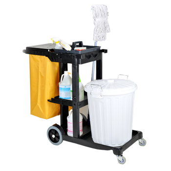 Hotel Cleaning car Removable Mop Rack Cleaning Tool Storage Rack For School Hospital Factory Hotel Restaurant Real Estate Compan - DISCOUNT ITEM  30% OFF All Category