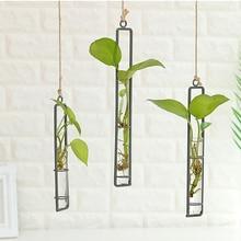 Hydroponic Vase Flower-Pot Hanging-Pot Planter Wooden-Tray Home-Decor Bonsai Art