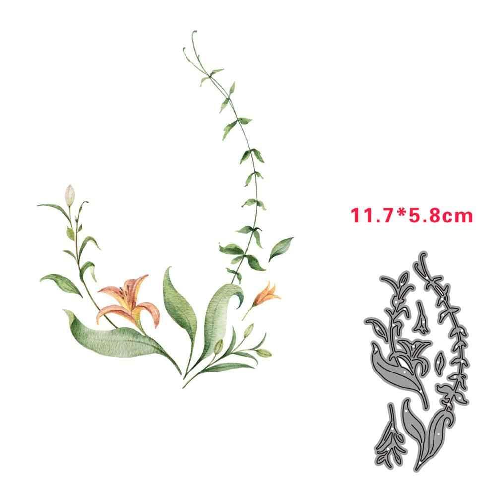 Metalen Stansmessen Bloemen Rotan Schimmel Plakboek Sterft Voor Stempel & Greet Kaart Maken Cut Papier Ambachtelijke 2020 Nouveau Arrivage
