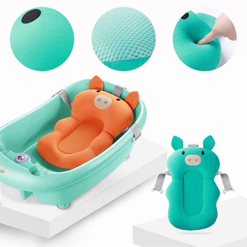 banheira de banho do bebe anti deslizamento almofada de apoio confortavel macio recem nascido almofada de
