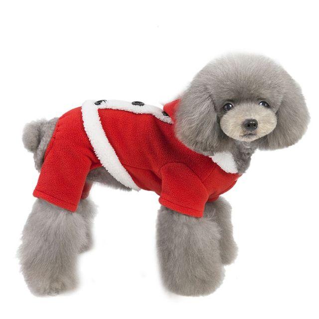 Dog Christmas Costume Warm Santa Claus Cosplay