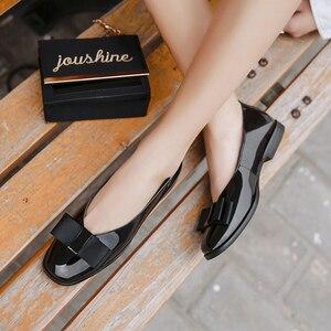 Image 2 - Zapatos de Ballet Donna in, zapatos de boda para mujer, mocasines de cuero para mujer, zapatos de diseñador Bowknot, zapatos casuales de verano para mujer