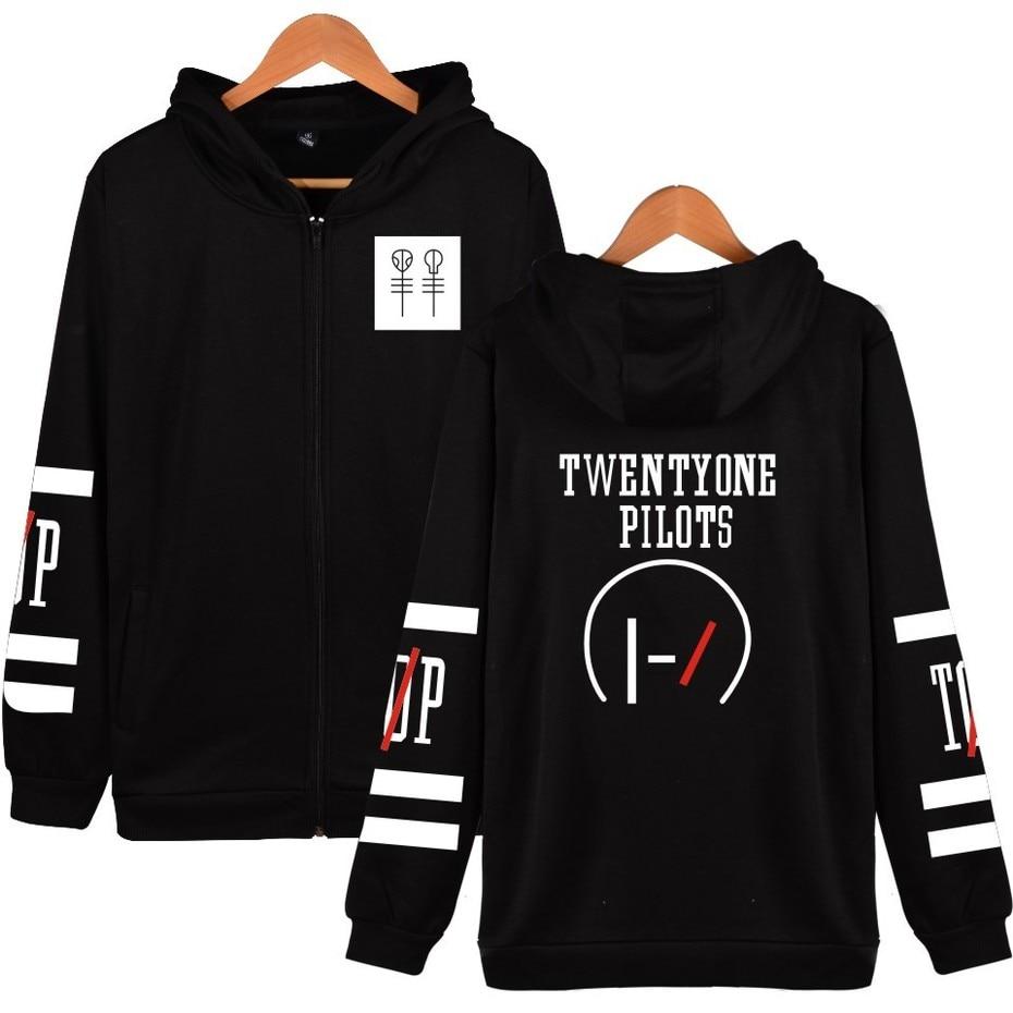 ZOGAA Men Women Hoodies Twenty One Pilots Hip Hop Music Character Pattern Hoodie Autumn Winter Hoodies Sweatshirts