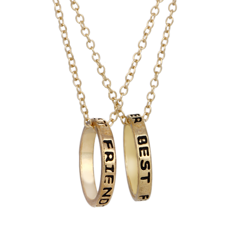 1/2/3 Pcs Best Friend Forever Love Eternity Color round Pendant Necklace Romantic Valentine's Day Gift For Man Women Jewelry image