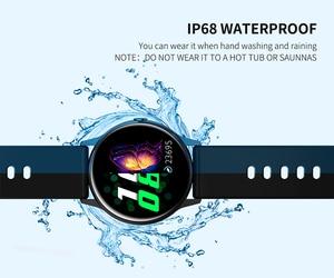 Image 4 - 2020 nova mulher smartwatch ip68 à prova dip68 água wearable dispositivo monitor de freqüência cardíaca relógio inteligente para android ios intelligentny zegarek