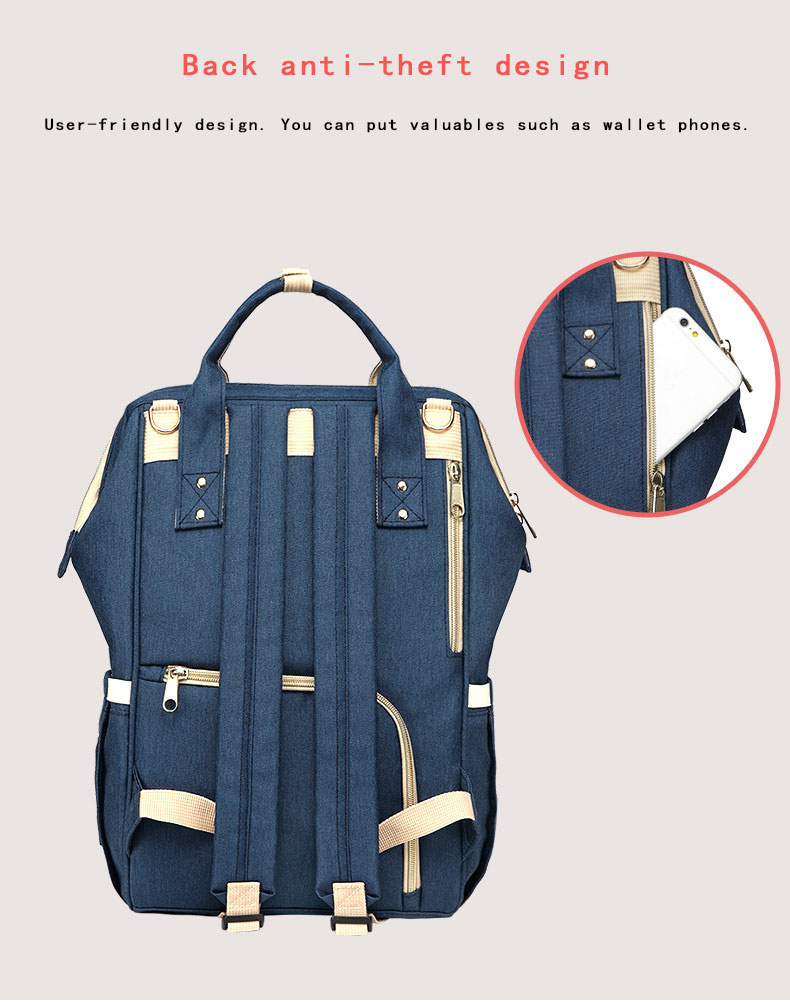 H86640993383748d79c0ff28c8651c257D Fashion Mummy Maternity Nappy Bag Waterproof Diaper Bag With USB Stroller Travel Backpack Multi-pocket Nursing Bag for Baby Care