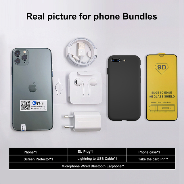 """100% Original Apple iPhone 11 Pro Max OLED Triple Rear Camera Cellphone 6.5"""" 4GB ROM 64/256GB Face ID A13 Chipset Unlocked Used 4"""