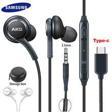 Fones de ouvido samsung eo ig955 akg fone de ouvido in-ear 3.5mm/tipo c com microfone com fio para galaxy s20 note10 s10 s10 + s9 s8 + s7 s6 huawei