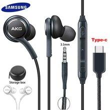 Samsung ecouteurs EO IG955 AKG casque intégré 3.5mm/Type c avec micro filaire pour Galaxy S20 note10 S10 S10 + S9 S8 S8 + S7 S6 huawei