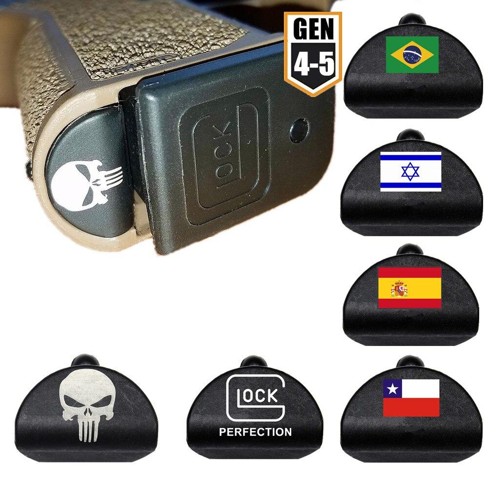 Grip กรอบใส่ปลั๊กสำหรับ Gen 4/5 Glock 17 18 19 22 23 ปืนพกปืนรูโพรง Slug 9 MM นิตยสาร MAG Magwell อุปกรณ์เสริม