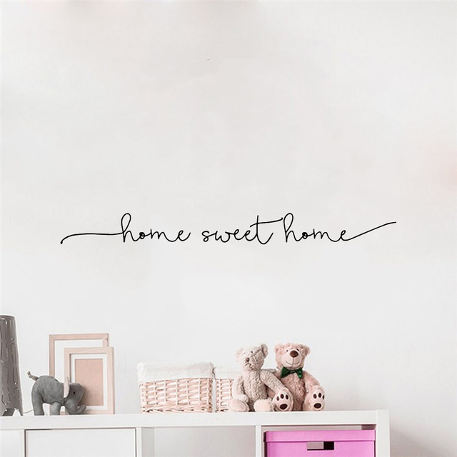 Home Sweet Home Phrase Wall Sticker 6