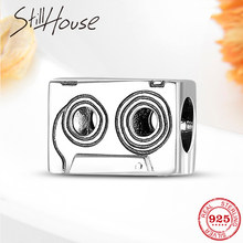 Hot 925 Sterling Silver fashion magnetic tape beads charms Fit Original Pandora Charm Bracelet Jewelry making(China)