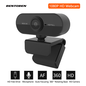 BENTOEBN 1080P HD Webcam Mini Camera With Microphone Rotatable Driver Free USB Video Camera for Computer Live Broadcase
