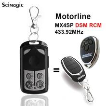 433.92 Mhz Duplicator Copy MOTORLINE ALUTECH AN MOTORS AT 4 For Garage Door Gate Remote Control Key Fob 433.92 rolling code