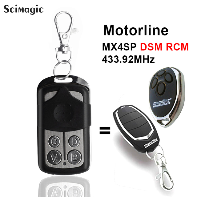 433,92 Mhz Duplikator Kopie MOTORLINE ALUTECH AN MOTORS AT 4 Für Garage Tür Tor Fernbedienung Schlüssel Fob 433,92 rolling code