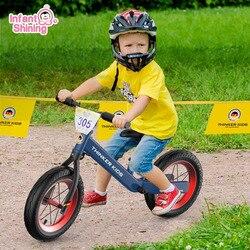 ميزان الطفل دراجة الاطفال ووكر دراجة ركوب على اللعب عجلتين هدية للأطفال 1-5 سنوات من العمر تعلم المشي سباق انزلاق الدراجة