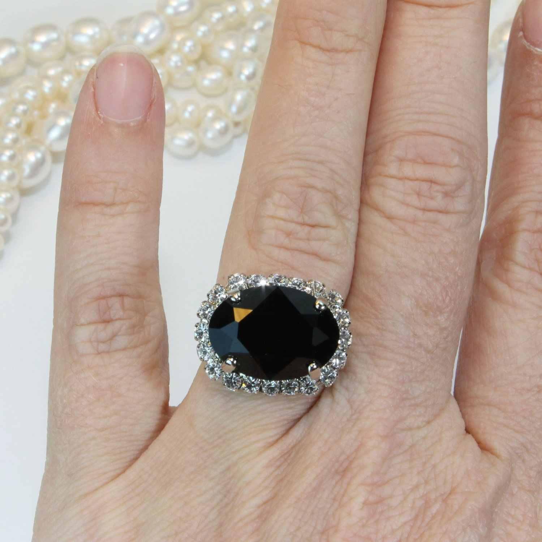 Luxury ชายหญิงรูปไข่ขนาดใหญ่หมั้นแหวน 925 เงินคริสตัลสีดำ ONYX หินเพทายแหวน Tanzanite แหวน