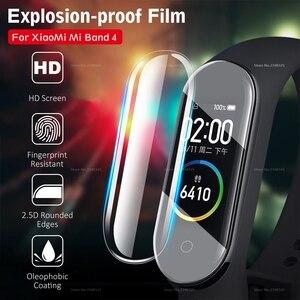 Image 1 - 3 teile/los Volle Abdeckung Screen Protector Film Für Xiao mi mi Band 4 Bnad4 Smart Armband Abdeckung Film Für mi band 4 Band4 Zubehör