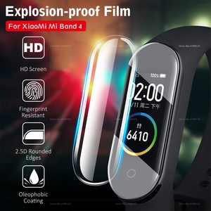 Image 1 - 3PCS/Lot Full Cover Screen Protector Film For Xiaomi Mi Band 4 Bnad4 Smart Bracelet Cover Film For Mi Band 4 Band4 Accessories