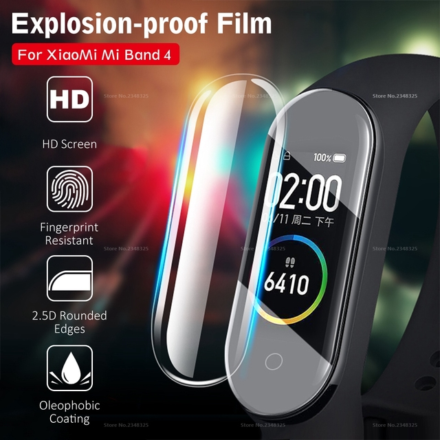 3PCS/Lot Full Cover Screen Protector Film For Xiaomi Mi Band 4 Bnad4 Smart Bracelet Cover Film For Mi Band 4 Band4 Accessories