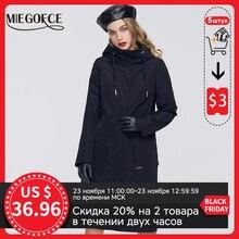 MIEGOFCE مجموعة ربيع 2020 الجديدة للنساء سترة واقية مع معطف بارد مع معطف مقاوم وقلنسوة غير رسمية لأزياء الموضة