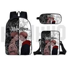 Backpack Men Mochila Rucksacks Anime Jujutsu Kaisen Schoolbag Laptop-Shoulder-Bag Dos