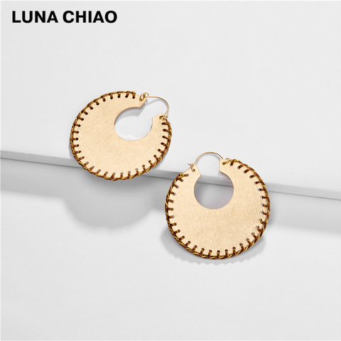 LUNA CHIAO Trendy Fashion Big Metal Hoop Earring Braided Handmade Big Boho Statement Earrings for Women Islamabad