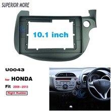 2 Din 10.1 Cal ramka radiowa Fascia dla Honda FIT JAZZ 2008 2013 kierownica z prawej strony Panel Stereo Dashboard instalacja zestaw do przycinania