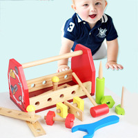 Baby Wooden Tool Toys Kids Learning Educational Knock On The Ball Screw Assembly Game Tool Disassemble Table Puzzle Games