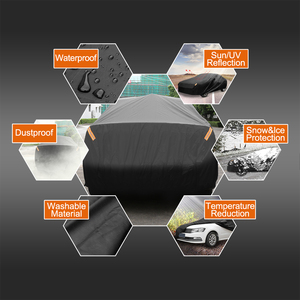 Image 2 - X Autohaux Universele Full Car Cover Indoor Outdoor Auto Covers Sneeuw Ijs Waterdichte Stof Zon Uv Shade Cover Auto reflector