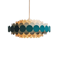 Nordic Postmodern Simple Living room chandelier Restaurant bedroom study LED chandelier E14 Tricolor light 12W Acrylic black